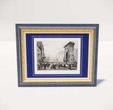 复古装饰画框32_Sketchup模型