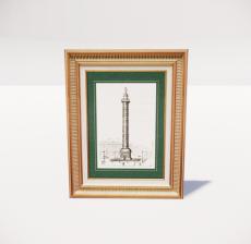 复古装饰画框33_Sketchup模型