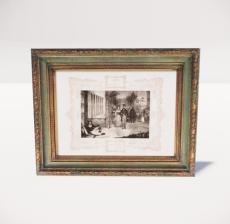 复古装饰画框34_Sketchup模型