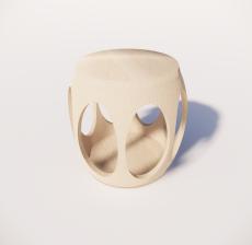木色单椅1_Sketchup模型
