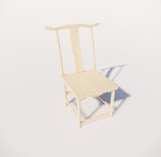 木色单椅2_Sketchup模型