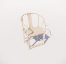 木色单椅3_Sketchup模型