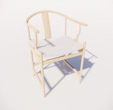 木色单椅4_Sketchup模型