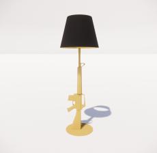 现代轻奢落地灯4105_Sketchup模型