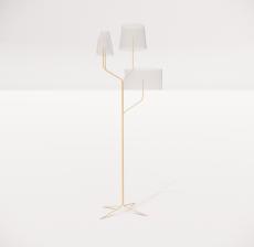 现代轻奢落地灯4124_Sketchup模型