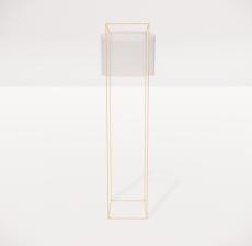 现代轻奢落地灯4138_Sketchup模型