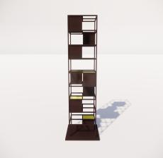 现代书架_Sketchup模型