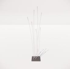 现代轻奢落地灯498_Sketchup模型