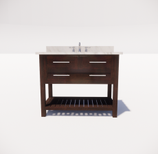 洗手台1_Sketchup模型