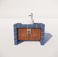 洗手台4_Sketchup模型