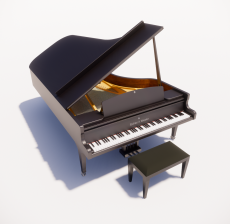 钢琴1_Sketchup模型