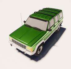 吉普车2_Sketchup模型