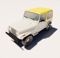 吉普车_Sketchup模型
