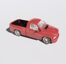 皮卡车_Sketchup模型