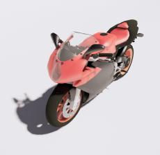 摩托车10_Sketchup模型