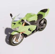 摩托车11_Sketchup模型