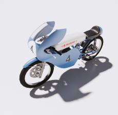 摩托车12_Sketchup模型