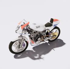 摩托车13_Sketchup模型