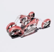 摩托车14_Sketchup模型