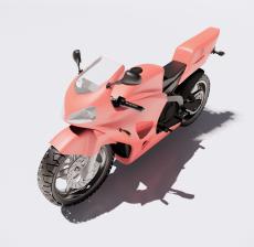 摩托车1_Sketchup模型