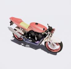 摩托车7_Sketchup模型