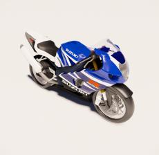 赛车_摩托车_Sketchup模型