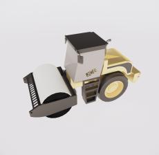 压路机_Sketchup模型