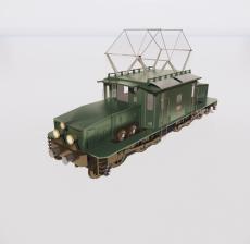复古火车_Sketchup模型