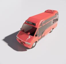 红色巴士_Sketchup模型