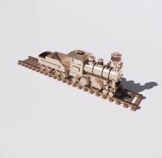 蒸汽火车_Sketchup模型