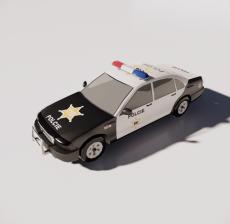 警车3_Sketchup模型