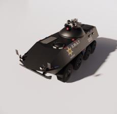 警车4_Sketchup模型