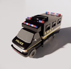 警车7_Sketchup模型