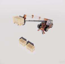 高空作业车1_Sketchup模型