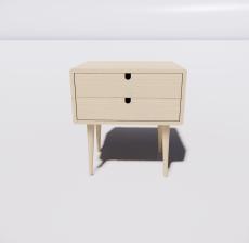 北欧风床头柜2_Sketchup模型