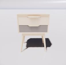 北欧风床头柜_Sketchup模型