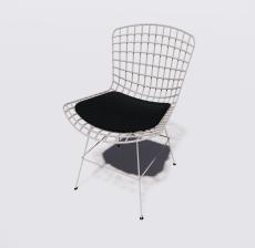 塑料靠背椅1_Sketchup模型