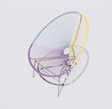 塑料靠背椅2_Sketchup模型