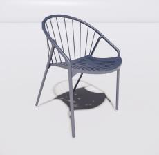塑料靠背椅3_Sketchup模型