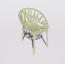 塑料靠背椅4_Sketchup模型