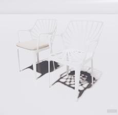 塑料靠背椅5_Sketchup模型