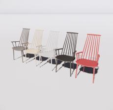 椅子组合_Sketchup模型