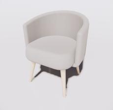 靠背椅11_Sketchup模型