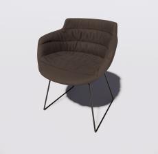 靠背椅12_Sketchup模型