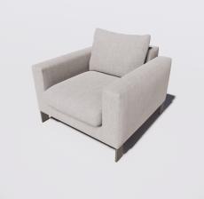 靠背椅16_Sketchup模型