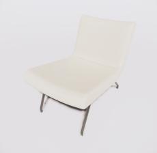 靠背椅17_Sketchup模型