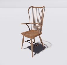 靠背椅19_Sketchup模型