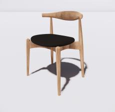 靠背椅20_Sketchup模型