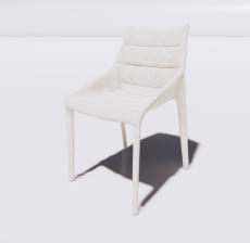 靠背椅21_Sketchup模型