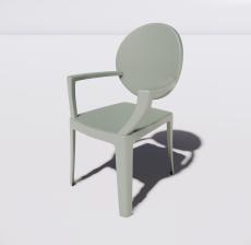 靠背椅25_Sketchup模型